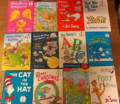 Lot of 20 Dr. Seuss I Can Read It Beginner Early Children Kids Read Books #C28