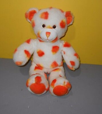 Build A Bear Workshop Orange Candy Corn Halloween Teddy Stuffed Animal Plush