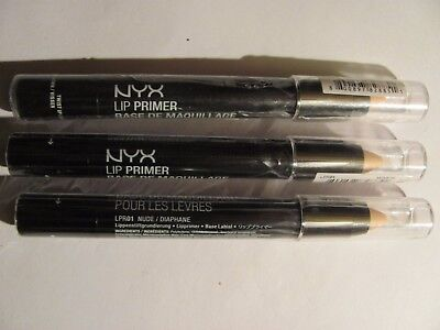 NYX Cosmetics Lip Primer Nude Brand New AUTHENTIC/SEALED Lot of 3