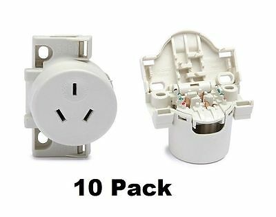 10 x Quick Connect Surface Socket Plug Bases For Downlights 413QC