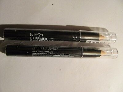 NYX Cosmetics Lip Primer Nude Brand New AUTHENTIC/SEALED Lot of 2