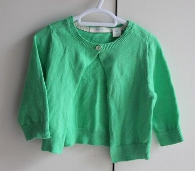 Baby Girl Size 0 #246 - Country Road Green Cardigan