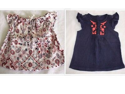 Baby Girl Size 0 #243 - SS Tees x 2 (Country Road)