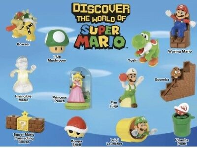 McDonald's Super Mario Happy Meal Toys 2017 COMPLETE 12 FULL SET - OPENED