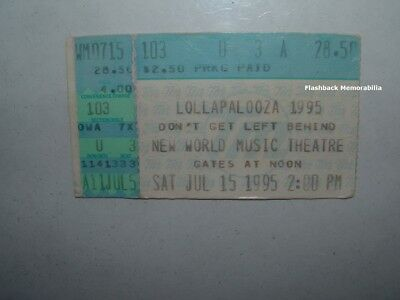 LOLLAPALOOZA 1995 Ticket Stub CHICAGO Sonic Youth BECK Hole MOBY Patti Smith