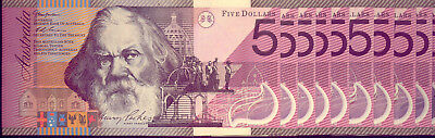 10x $5 NOTES: FEDERATION ISSUE AA FIRST PREFIX   NO RESERVE