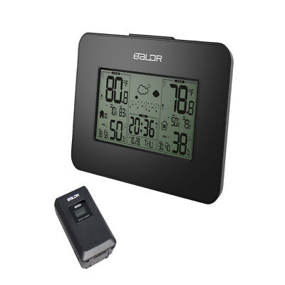Digital Weather Station LCD Temperature Meter Thermometer + Wireless Probe