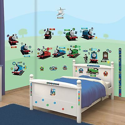 Walltastic Thomas & Friends Room Decor Wall Sticker Kit 79 Pieces Included New