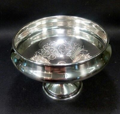 Vintage Silver plate Lovely Bonbon Sweets Dish candlestick Decorative Tableware
