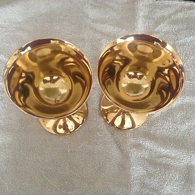 Gold plated Spanish  goblets made in England  good condition