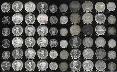 60 OLD WORLD BIG SILVER COINS (HALF are BU BEAUTIES) 37+ TrOz Gr Wt > NO RESERVE