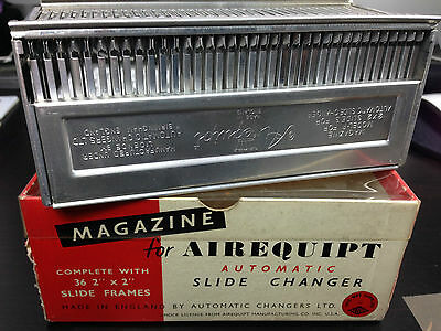 """Magazine For Airequipt Automatic Slide changer complete with 36 2""""x2"""" frames"""