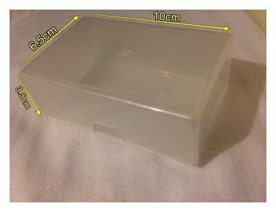 Clear Opec Plastic Trading Card Storage Box: Fits Approx. 60 Trading Cards New
