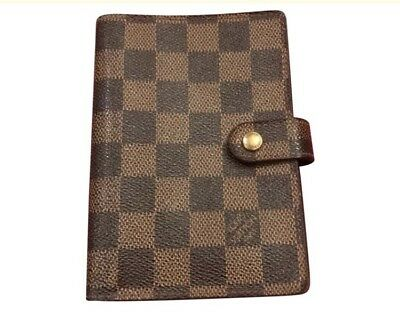 Authentic Louis Vuitton Damier Agenda PM Day Planner Cover R20700 LV 43613