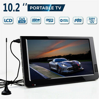 10.2'' 12V Portable Car DVB-T2 TFT HD TV 16:9 Digital Analog Television Player