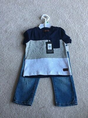 Boys Jeans/ T Shirt Outfit By 7 For All Mankind Age 18 Months $59 GIFT
