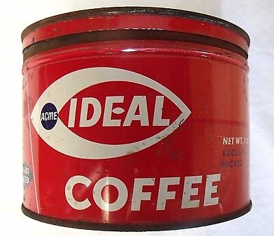 IDEAL COFFEE 1lb Can with Lid  - Philadelphia, Pa.