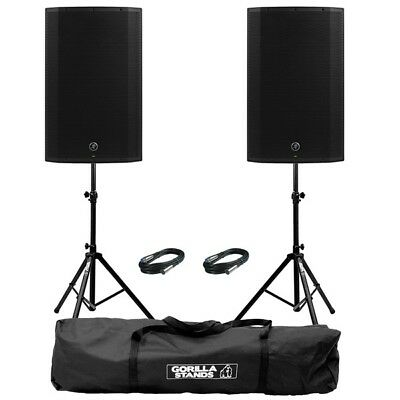 """Mackie Thump 15A V4 Active 15"""" DJ Disco Musician PA Speakers inc Stands & Cables"""