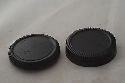 Fujifilm FX mount Camera Lens Cap and Body Cap Set for Fujifilm X pro, X 100