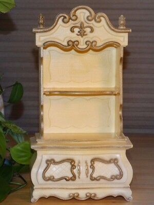 Vintage 1960s Barbie Furniture Suzy Goose French Provincial Hutch Shelf Cabinet