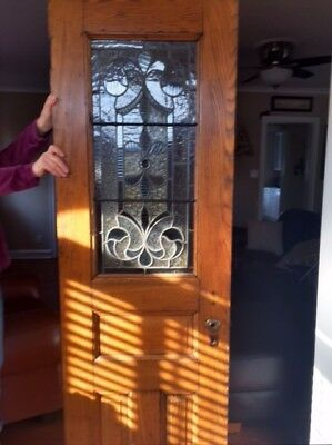 Antique Leaded Glass Door