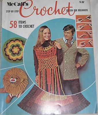 Vintage 1970s McCall's Magazine Pattern Book CROCHET LESSON FOR BEGINNERS #4