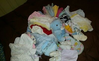 VINTAGE- LARGE Baby / Doll Clothing Lot. Assorted Brands & Sizes-Cute! VARIETY!!