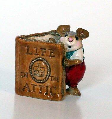 Wee Forest Folk SCRABBLE II Mouse Life in the Attic Orchard House Collection EUC