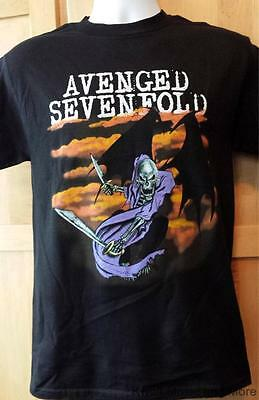 """AVENGED SEVENFOLD T-Shirt  """"Reaper Knife""""  A7X  Official/Licensed    Size:S  NEW"""