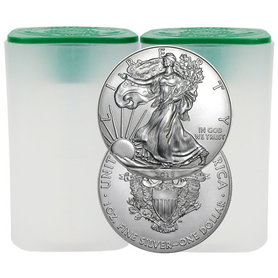 Lot of 40 - 2018 $1 American Silver Eagle 1 oz BU 2 Full Rolls