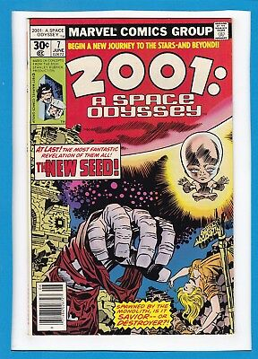 """2001:a Space Odyssey #7_June 1977_Nm Minus_""""the New Seed""""_Bronze Age Jack Kirby!"""