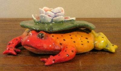 Ceramic Lilypad Frog Box by DaNisha, Ltd. Ed.-FREE SHIPPING