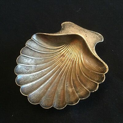 Tiffany & Co. Makers Sterling Footed Shell Dish