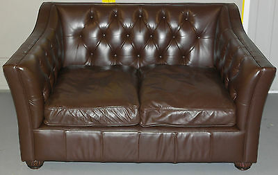 Rrp £2200 Chesterfield Tetrad Dorchester Premium Leather Sofa Feather Filled