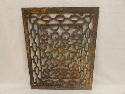 Large Antique Cast Iron Cold Air Return Vent Vtg Victorian Grill 22x18 549-17P