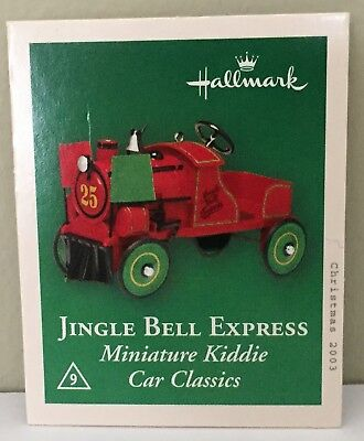 2003 Keepsake Ornament-Miniature Kiddie Car Classics-Jingle Bell Express