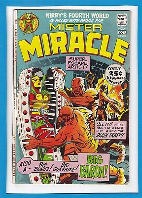 Mister Miracle #4_October 1971_Fine/very Fine_Jack Kirby_Bronze Age Dc Giant!