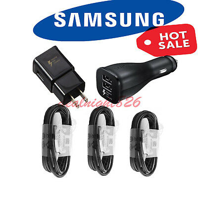 OEM Samsung Galaxy S9 S8 Plus Note 9 Fast Charger Wall + Car Charger USB Type-C