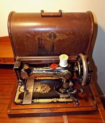 Antique 1892 Singer Hand Crank Portable Sewing Machine VG Cond. SN 11514066
