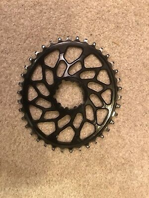 Absolute Black Oval Chainring 38t Cyclocross SRAM 1x