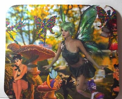 Mouse Pad  - Tinker Belle in a Garden Full of Fairies