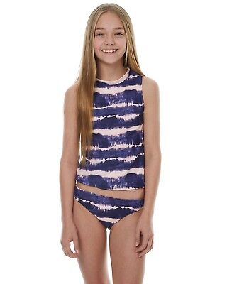 Bnwot Billabong Kids Girls Summer 2018 Driftlines Rashie Top (10) Bargain