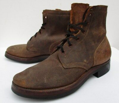NEW OLD DS VTG WWII 1940S NO.72 USA LEATHER BOOT Mens 7 Motorcycle Military Work