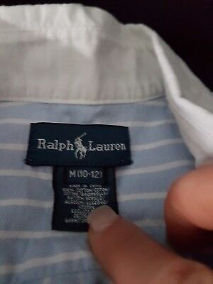 5x polo ralph lauren tops age from 10/12 years worn once bargain top condition
