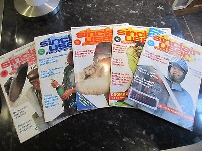 GROUP 5 AUTHENTIC SINCLAIR USER MAGAZINES 1984 No. 27-31