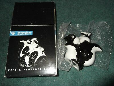 Warner Brothers Store Pepe Le Pew and Penelope Coin Bank in Box