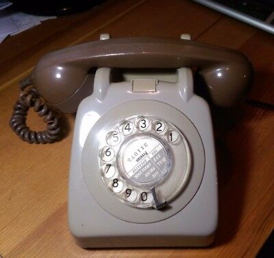 Vintage GPO/BT 746 Rotary Dial Grey and Brown Telephone - 1974