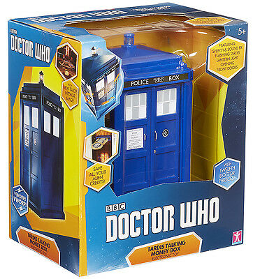 """DOCTOR WHO - 8"""" Tardis Talking Money Box (Character Group) #NEW"""