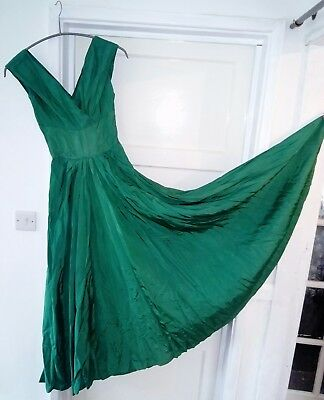 vintage 1950s shiny satin gown dress - LINZI