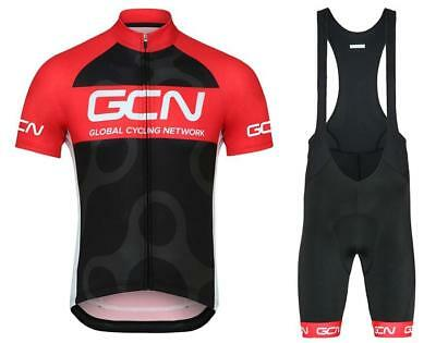 GCN Cycling Clothing Jersey & Bib Shorts Kit Sets Coolmax